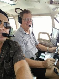 Steve Miller & Scott Saunders on Mission Flight from Bahamas
