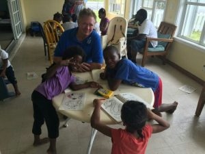 Scott Saunders enjoyed being with the children